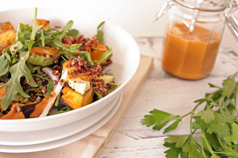Roast Butternut and Quinoa Salad. Recipe and photography The Luminous Kitchen