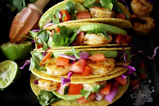 Easy Prawn Tacos with the Best Taco Seasoning. Recipe and photos The Luminous Kitchen