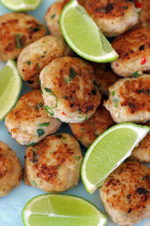 Gluten Free Thai Chicken Patties