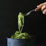 raw zuchini pasta ~ www.theluminouskitchen.com