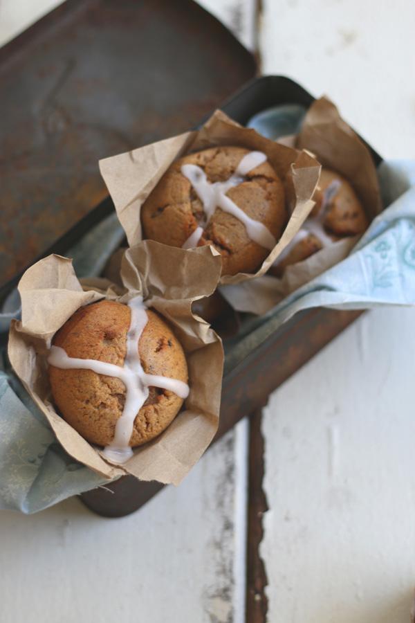 Gluten Free Hot Cross Buffins ~ The Luminous Kitchen