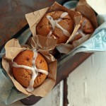 Gluten Free Hot Cross Buffins ~ a mix between a bun and a muffin ~ The Luminous Kitchen