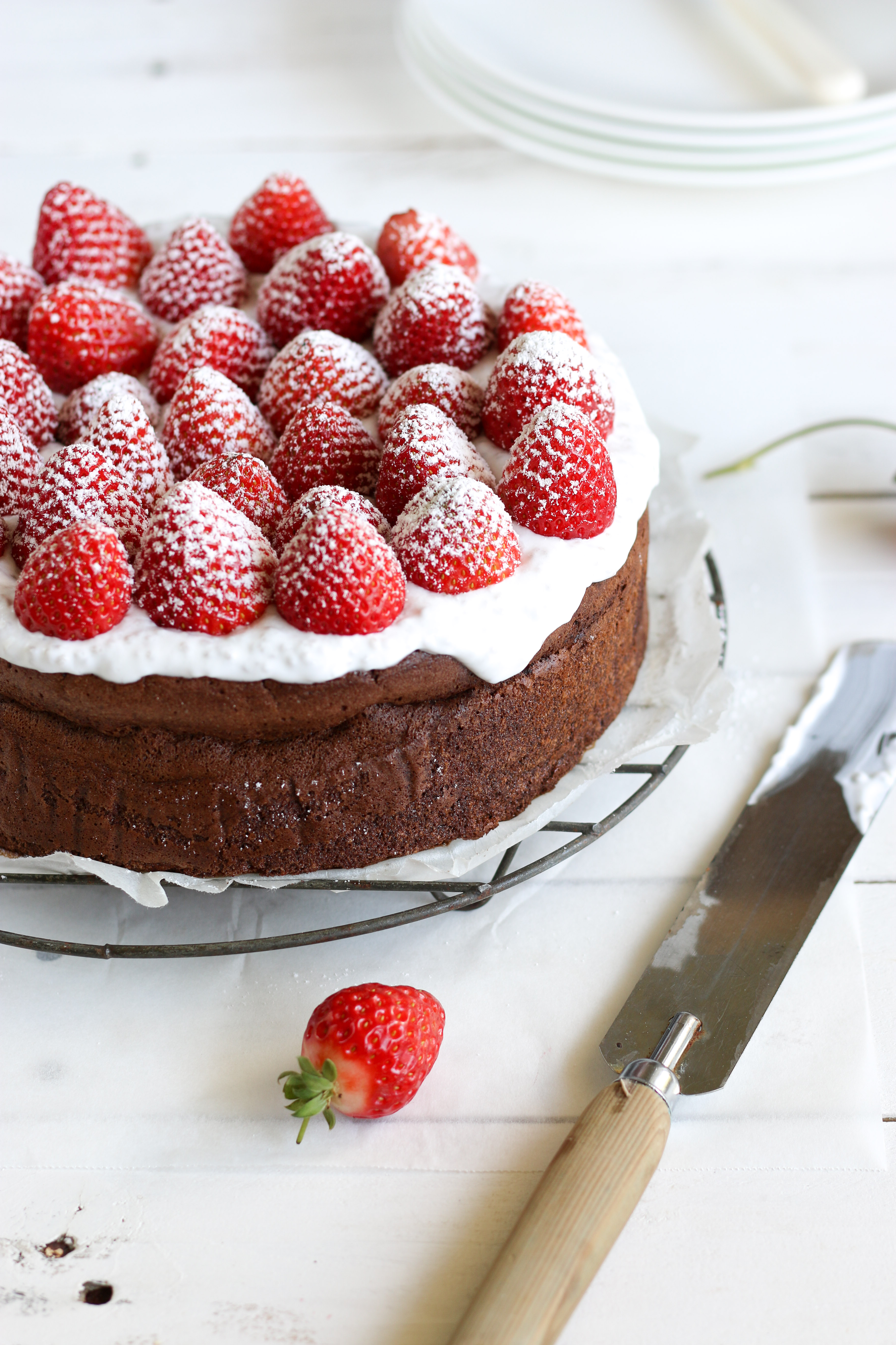 Flourless Chocolate Cake ~ The Luminous Kitchen