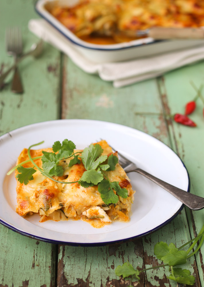 Red Thai Chicken Lasagne ~ The Luminous Kitchen