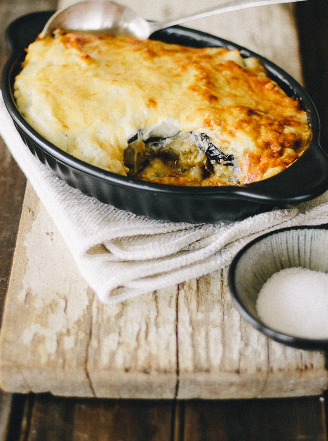 "Moussaka With Cauliflower ""Bechamel"""