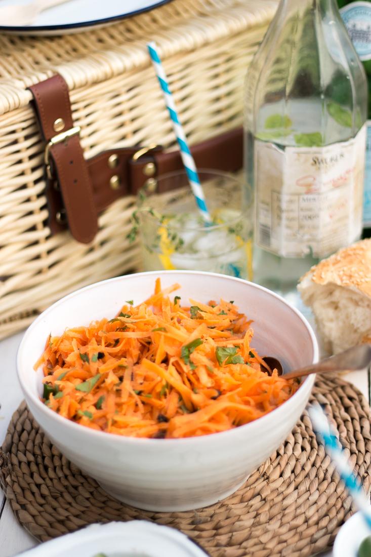 Moroccan Carrot Salad ~ The Luminous Kitchen