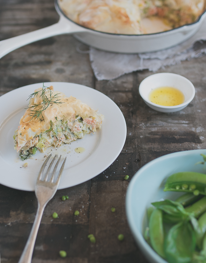 Salmon and Leek Pie // The Luminous Kitchen