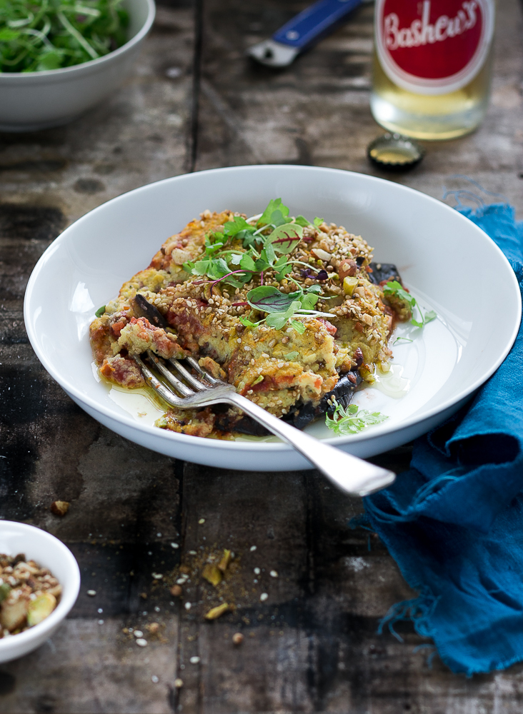 Eggplant Parma with Cauliflower Cheese