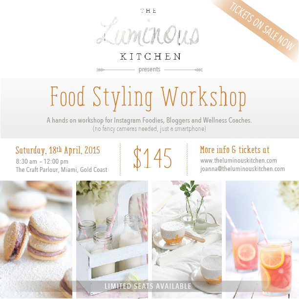 The Luminous Kitchen Food Styling Workshop for iPhone Photographers
