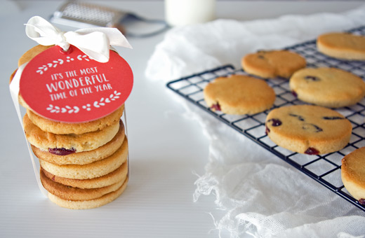 Festive Gifts With Heart: Gluten Free Paleo Spiced Almond and Cranberry Cookies