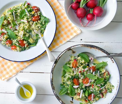 Manic Monday Meals: Raw Zucchini, Lemon and Mint Salad