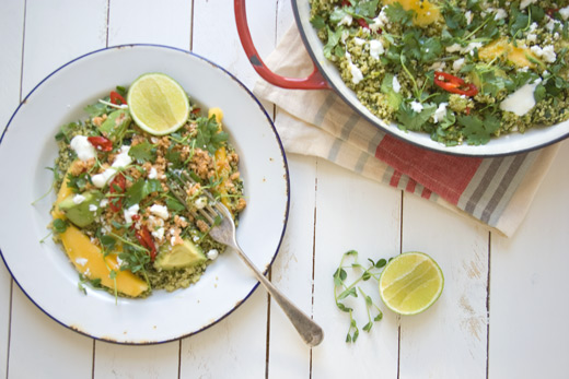 Manic Monday Meals: Flavour Packed Quinoa Salad with Chilli Nut Mince
