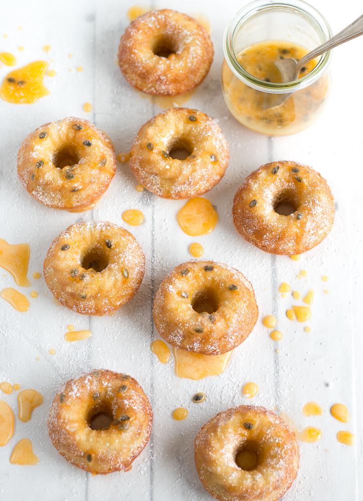 Gluten Free Passionfruit Mini Almond Cakes