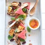 Za'atar Chicken, Haloumi and Watermelon Salad // The Luminous Kitchen