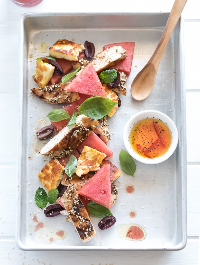 Za'atar Chicken, Haloumi and Watermelon Salad and My New FREE eCookbook is here