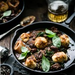 Slow Cooked Beef Stew with Ricotta Basil Dumplings